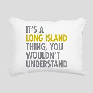 Long Island NY Thing Rectangular Canvas Pillow
