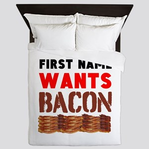 Wants Bacon Queen Duvet