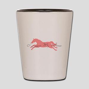 I Love My Horse Shot Glass
