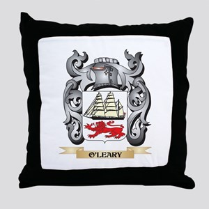 O'Leary Coat of Arms - Family Cre Throw Pillow
