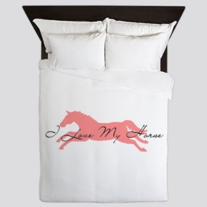 I Love My Horse Queen Duvet