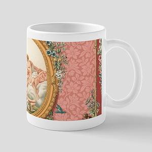 Ancient Victorian design in pastel tones Mugs
