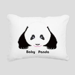 Baby Panda CF Rectangular Canvas Pillow