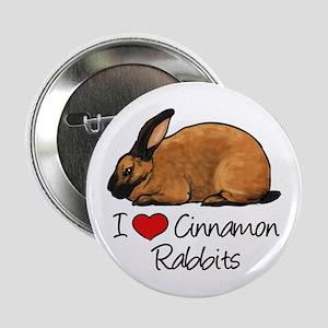 """I Heart Cinnamon Rabbits 2.25"""" Button"""