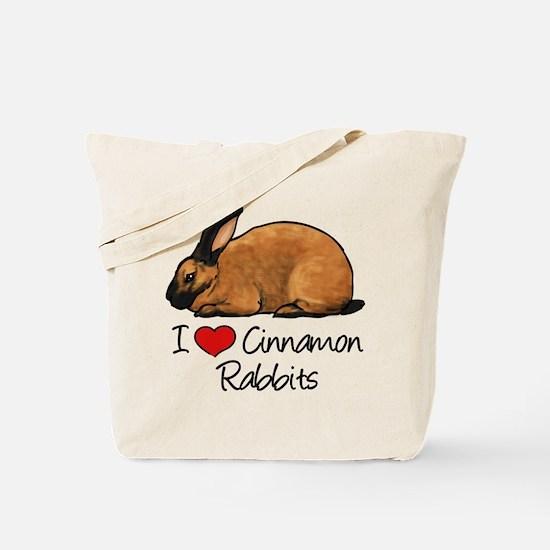 I Heart Cinnamon Rabbits Tote Bag