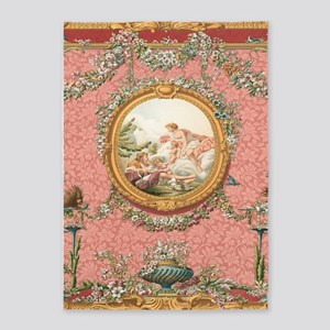 Ancient Victorian design in pastel tones 5'x7'Area