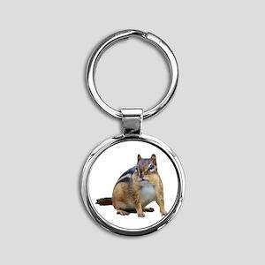 Chipmunk. Round Keychain
