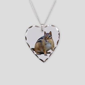 Chipmunk. Necklace Heart Charm