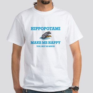 Hippopotami Make Me Happy T-Shirt