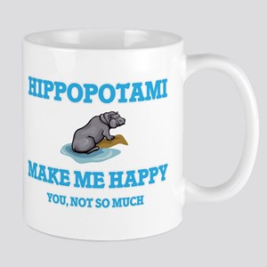 Hippopotami Make Me Happy Mugs