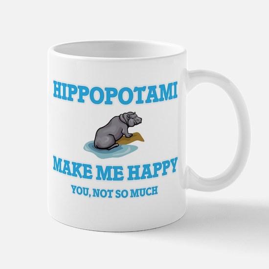 Hippopotami Make Me Happy Mugs
