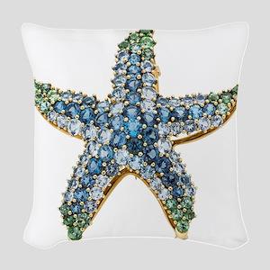 Rhinestone Starfish Costume Je Woven Throw Pillow