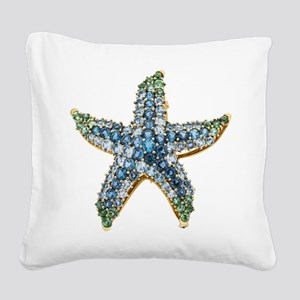 Rhinestone Starfish Costume J Square Canvas Pillow