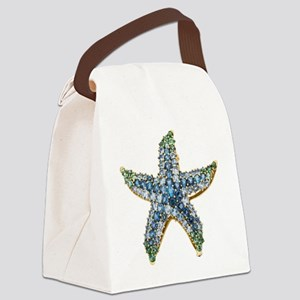 Rhinestone Starfish Costume Jewel Canvas Lunch Bag