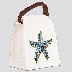 Rhinestone Starfish Costume Jewel Canvas Lunch Bag