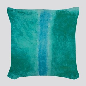 ROTHKO IN TEAL Woven Throw Pillow