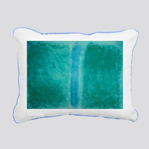 ROTHKO IN TEAL Rectangular Canvas Pillow