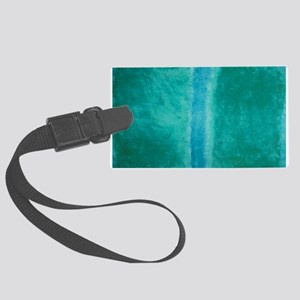 ROTHKO IN TEAL Large Luggage Tag