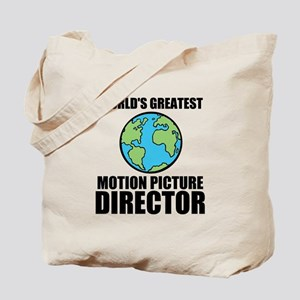Worlds Greatest Motion Picture Director Tote Bag