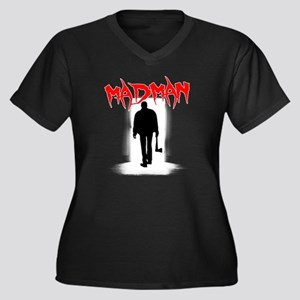 Madman Women's Plus Size V-Neck Dark T-Shirt