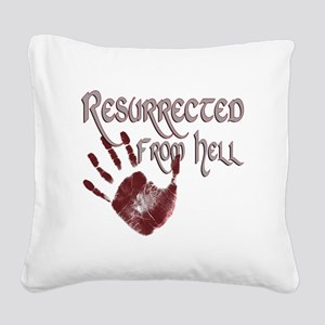 Resurrected from Hell Square Canvas Pillow