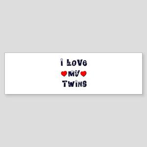 I Love MY TWINS Bumper Sticker