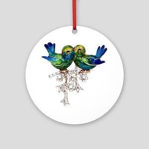 Love Birds Costume Jewelry Round Ornament