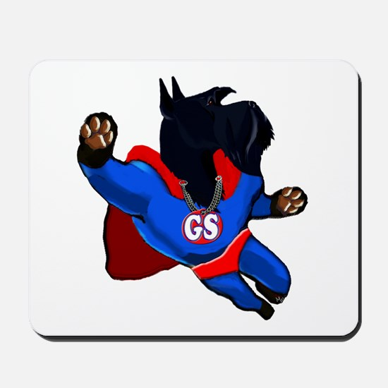 giant schnauzer super hero Mousepad