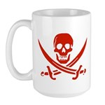 Pirates Red Large Mug
