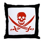 Pirates Red Throw Pillow
