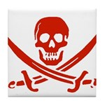Pirates Red Tile Coaster