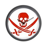 Pirates Red Wall Clock