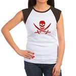 Pirates Red Women's Cap Sleeve T-Shirt
