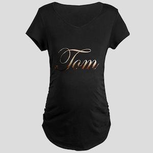 Gold name Tom Maternity Dark T-Shirt