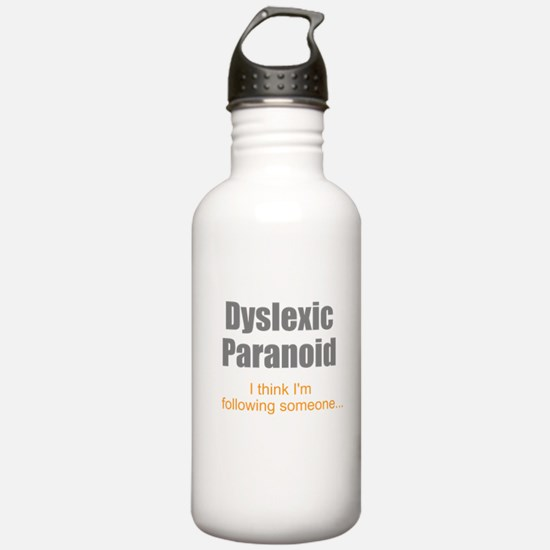 Dyslexic Paranoid Water Bottle