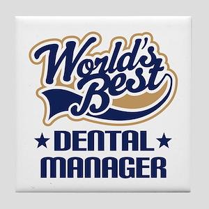 Dental manager Tile Coaster