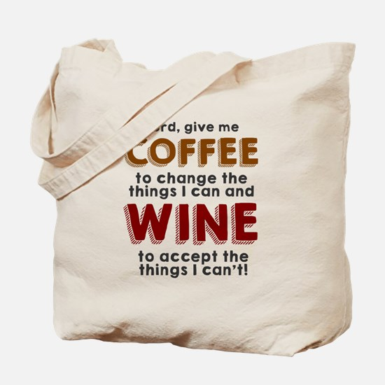 Coffee and Wine Tote Bag