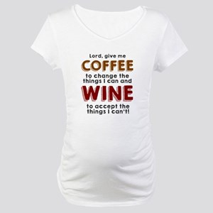 Coffee and Wine Maternity T-Shirt