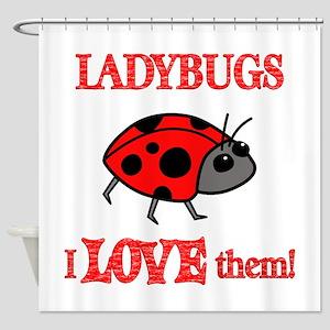 Ladybugs Love Them Shower Curtain