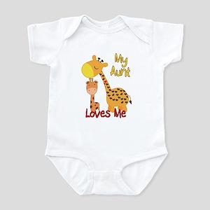 My Aunt Loves Me Giraffe Infant Bodysuit