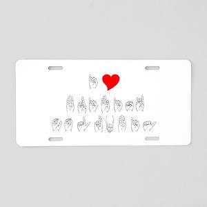 ASL I Heart B.C. Aluminum License Plate