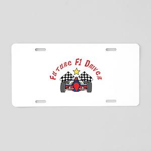 Future F1 Driver Aluminum License Plate