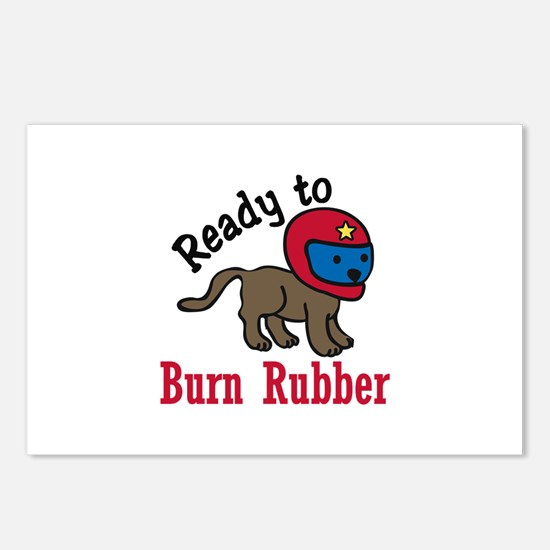 Burn Rubber Postcards (Package of 8)