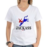 Democrat Jackass Women's V-Neck T-Shirt