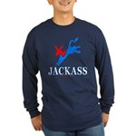 Democrat Jackass Lng Slv Dark Tee