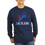 Democrat Jackass Lng Slv Dark Tee