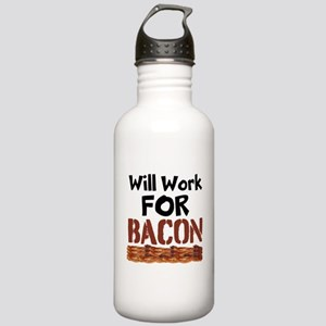 Will Work For Bacon Water Bottle