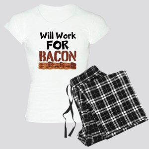Will Work For Bacon Pajamas