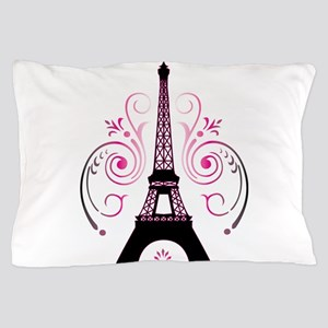 Eiffel Tower Gradient Swirl Pillow Case