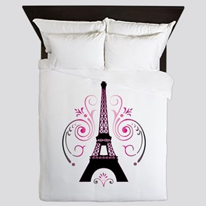 Eiffel Tower Gradient Swirl Queen Duvet